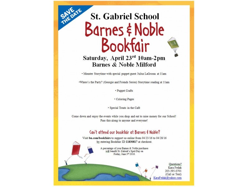 St Gabriel School Holds Book Fair With Barnes And Noble