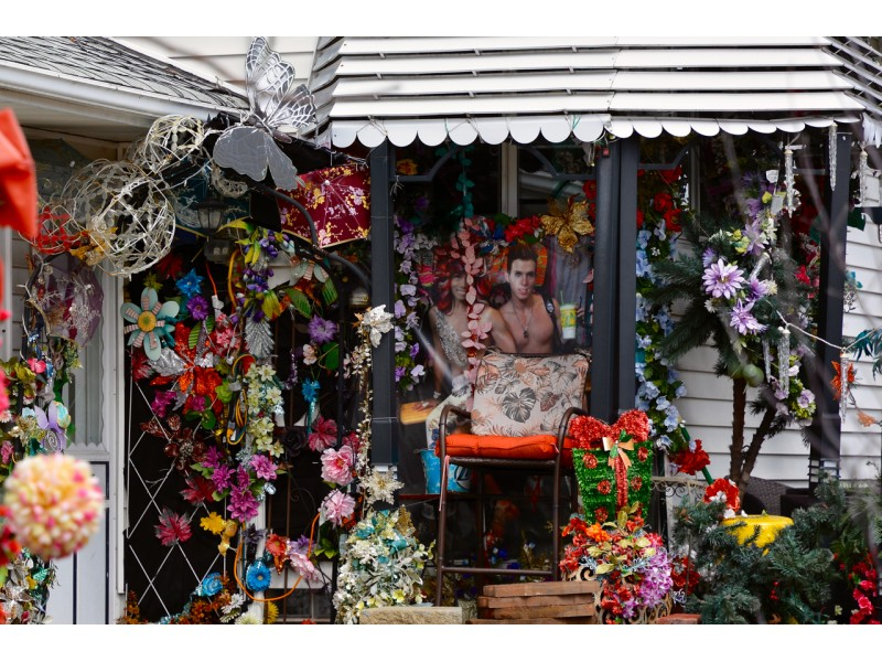 Flower house at cleveland lakewood border gets attention of