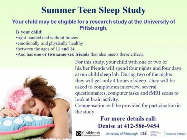 Opinion, lie. Teen sleep study there's