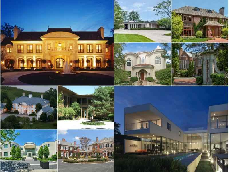 The 10 most expensive homes for sale in suburban chicago for Mansion in chicago for sale