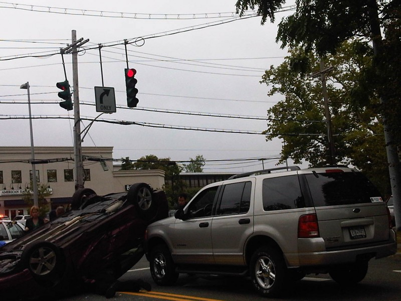 Update Car Flips On White Plains Road Bronxville Ny Patch