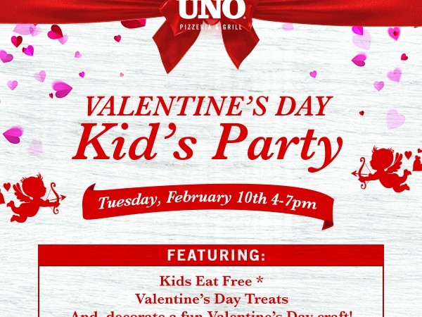 Kids can now eat free at Chicago Uno Grill every Tuesday. Ages 12 and younger are welcome to order one item from the Kid's Menu or Gluten-Free Pizza with each adult entree purchased.