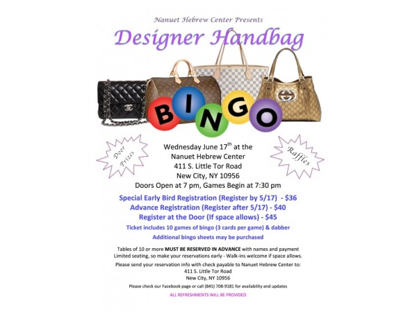 Designer logos purses