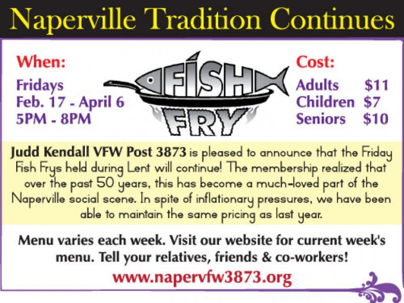 Vfw fish fry returns for another season naperville il patch for Vfw fish fry