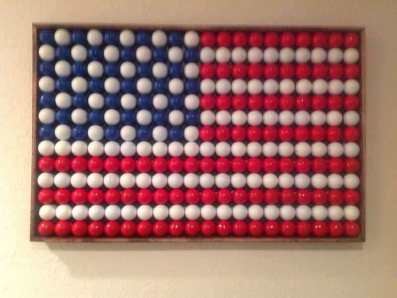 American Flag Made Of Golf Balls Chesterfield Mo Patch