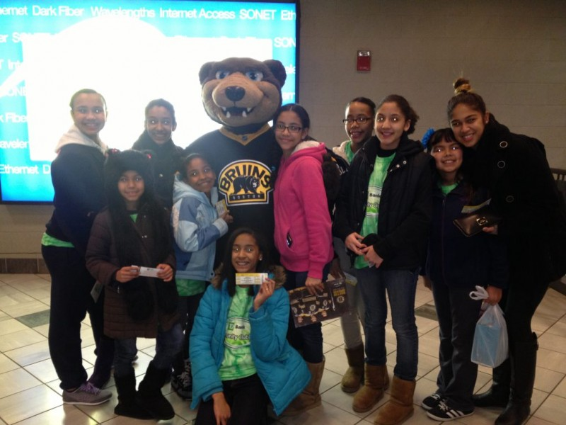 td bank sends kids from girl scouts of eastern ma