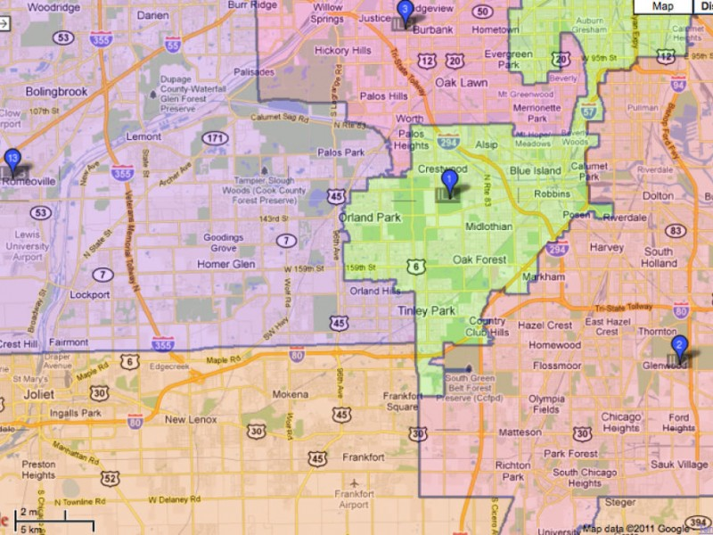 Orland Moved From 13th Congressional District To 3rd Under