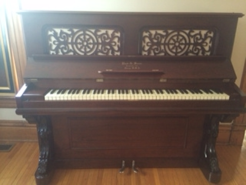 Restored Antique Upright Piano W Historical Value Hinsdale Il Patch
