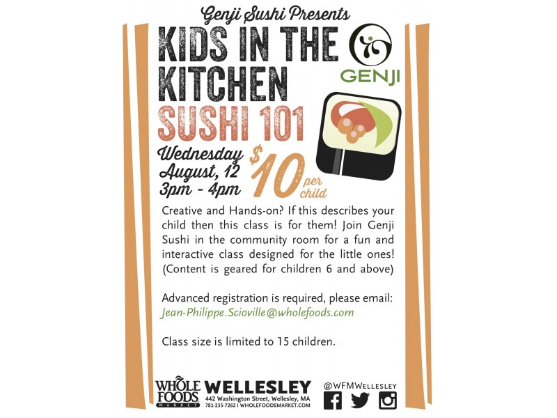 Kids in the Kitchen: Sushi 101 - Wellesley, MA Patch