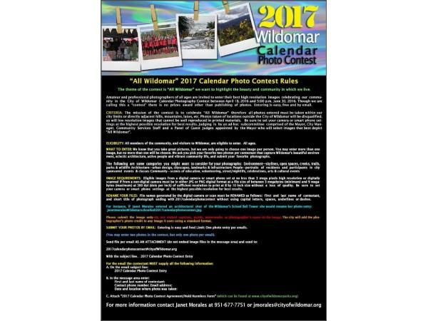 Calendar Photography Contest : Wildomar  calendar photo contest lake elsinore ca
