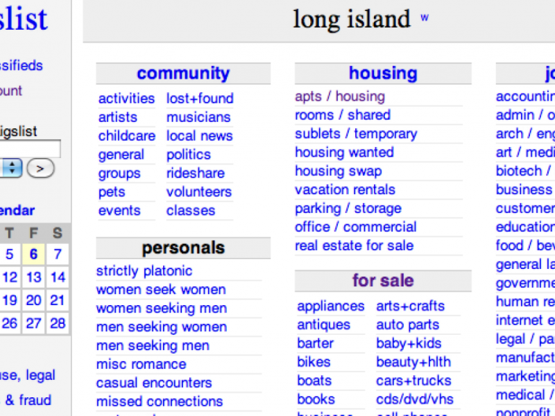 Craigslist long island personals