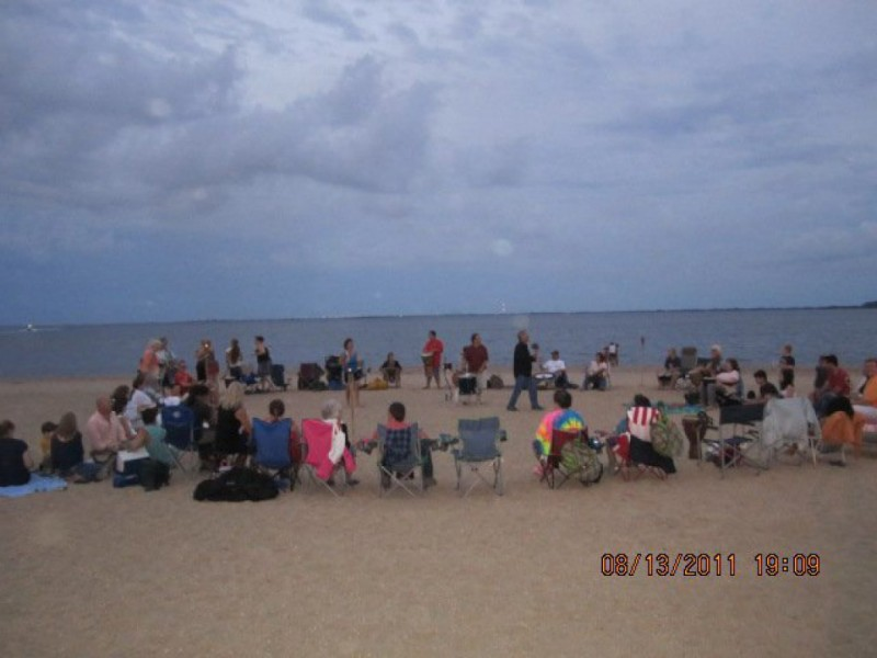 Sunset drumming circle at venetian shores beach for Venetian shores