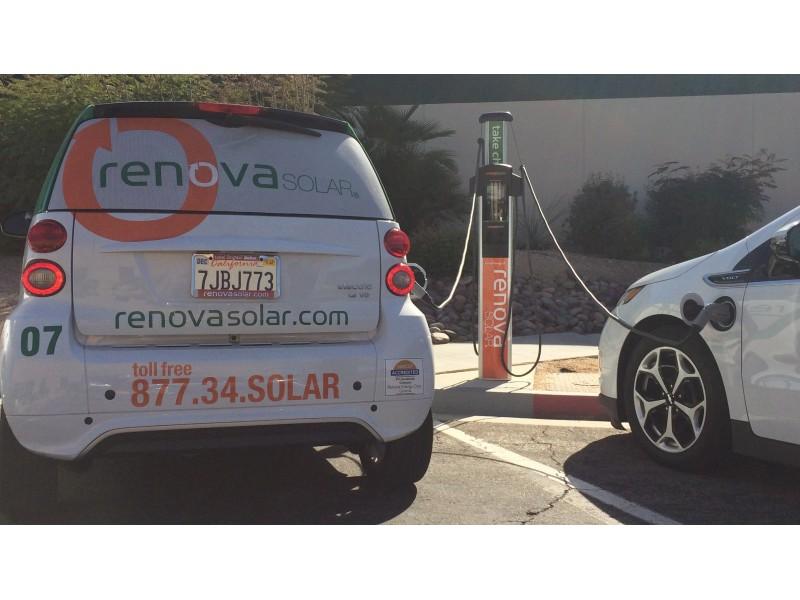 New palm desert electric car charging station at renova for Desert motor palm desert ca