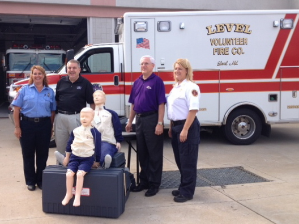 plaza ford donates cpr training devices to level vol fire co bel air md patch. Black Bedroom Furniture Sets. Home Design Ideas