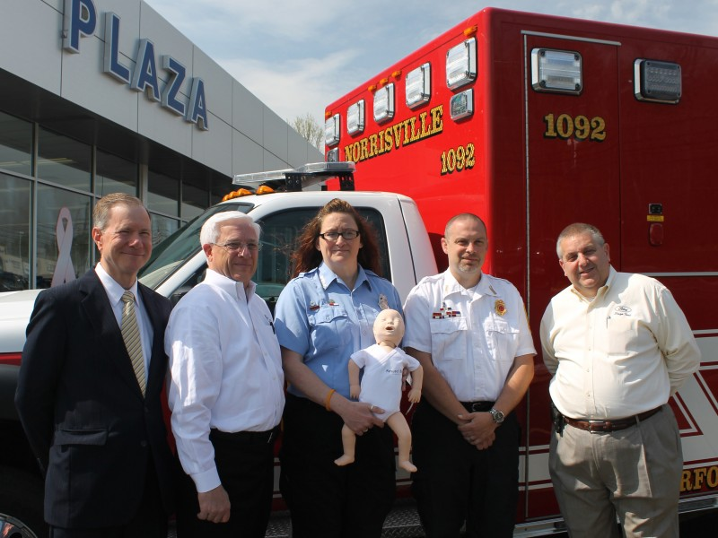 plaza ford donates cpr training device to norrisville volunteer fire company bel air md patch. Black Bedroom Furniture Sets. Home Design Ideas