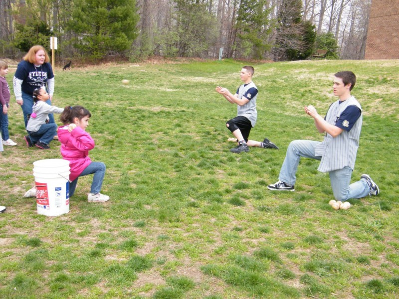 Hylton Baseball Players Visit Elementary Students Dale