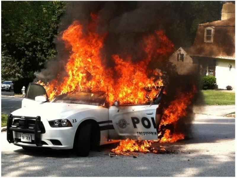 New Details In Tredyffrin Police Car Fire Tredyffrin Pa