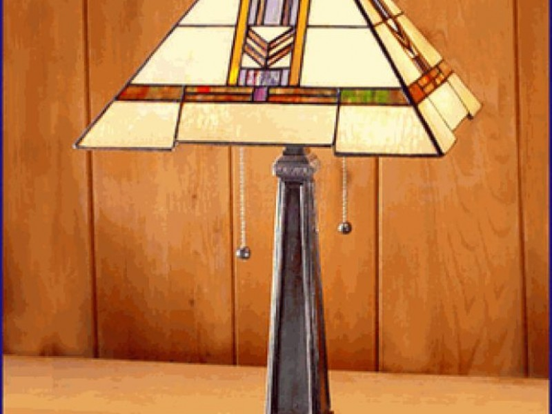 Wright Brothers Stained Glass Lamp : Stained glass frank lloyd wright lamp classes avon