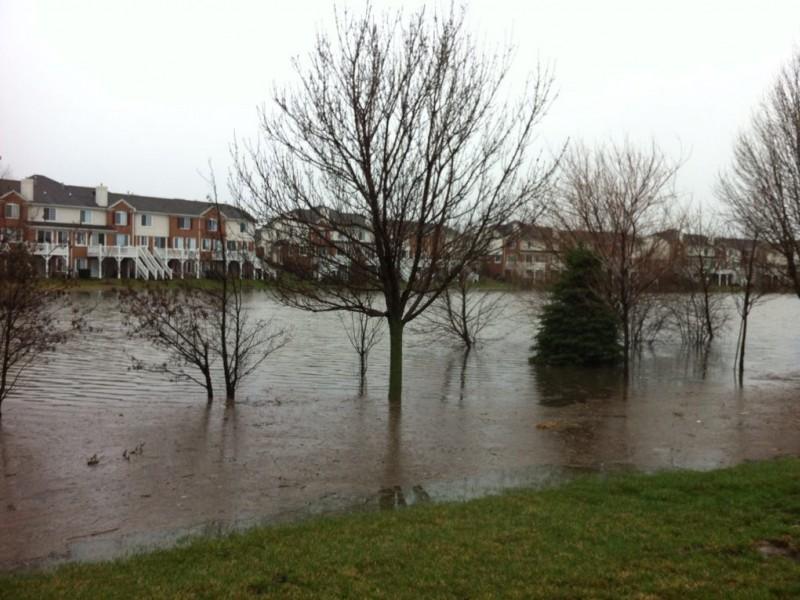 lake zurich road closures  flooding photos