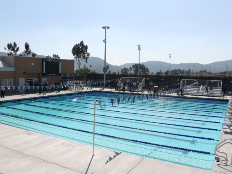 Photos west hills high dedicates new pool facility - West mesa high school swimming pool ...