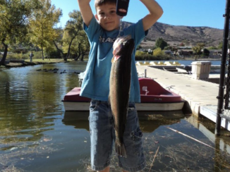 Santee lakes fishing report bacon grilled cajun trout for Lake poway fishing report