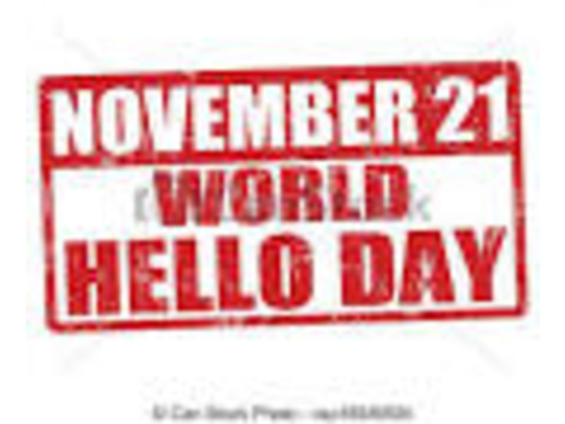 World Hello Day World Hello Day November 11