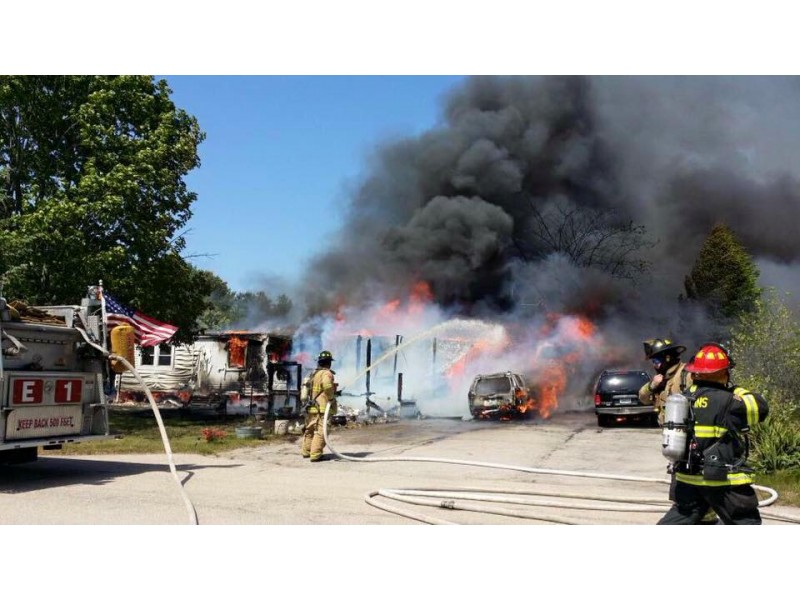 Coventry Fire Destroys Mobile Home, SUVs; Nobody Hurt