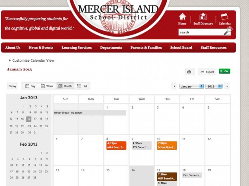 Three Year MISD School Calendar Approved Mercer Island WA Patch