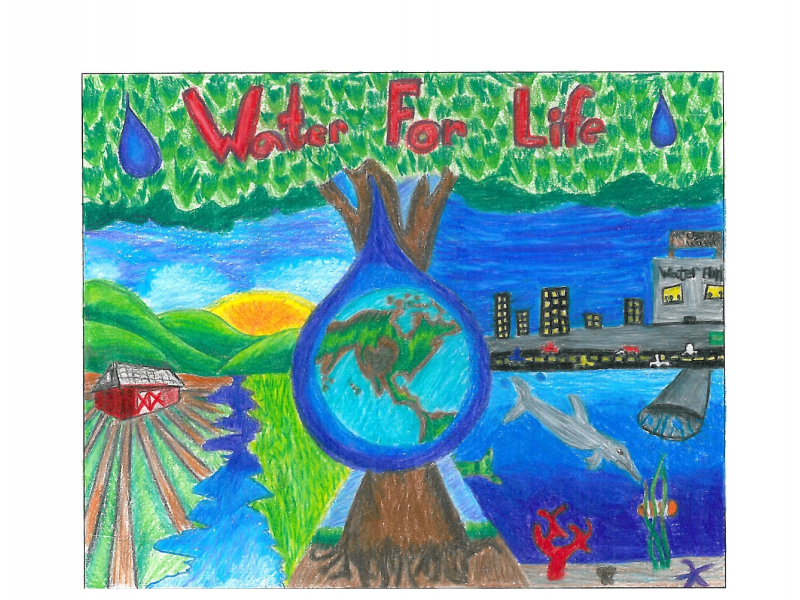 4th graders encouraged to enter 39 be water smart 39 poster for Making prints of paintings