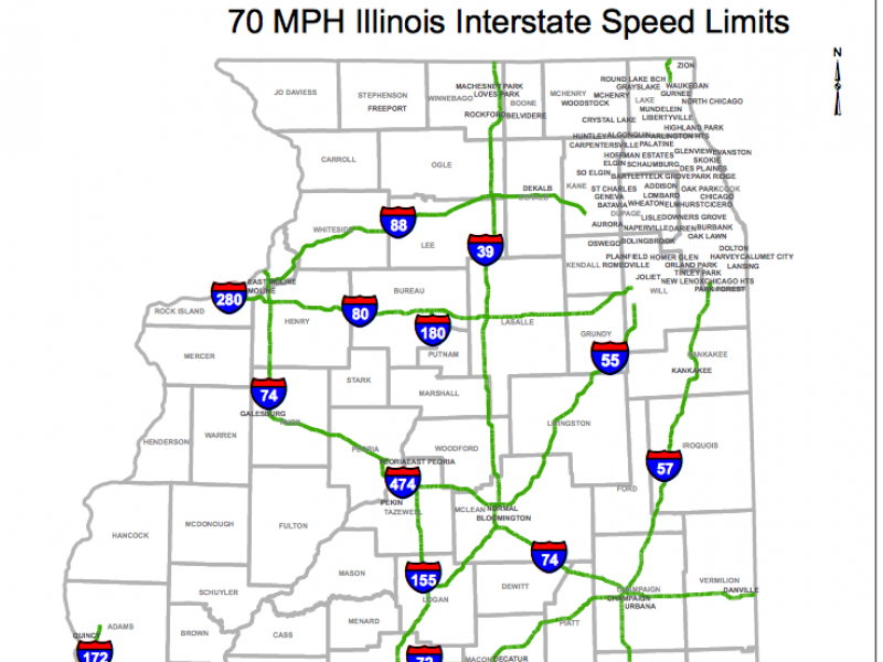 new law  see which highways will have a 70 mph speed limit