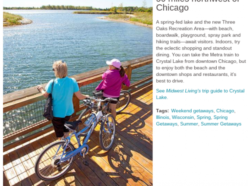 Crystal Lake Makes Midwest Living List of Weekend Getaways ...