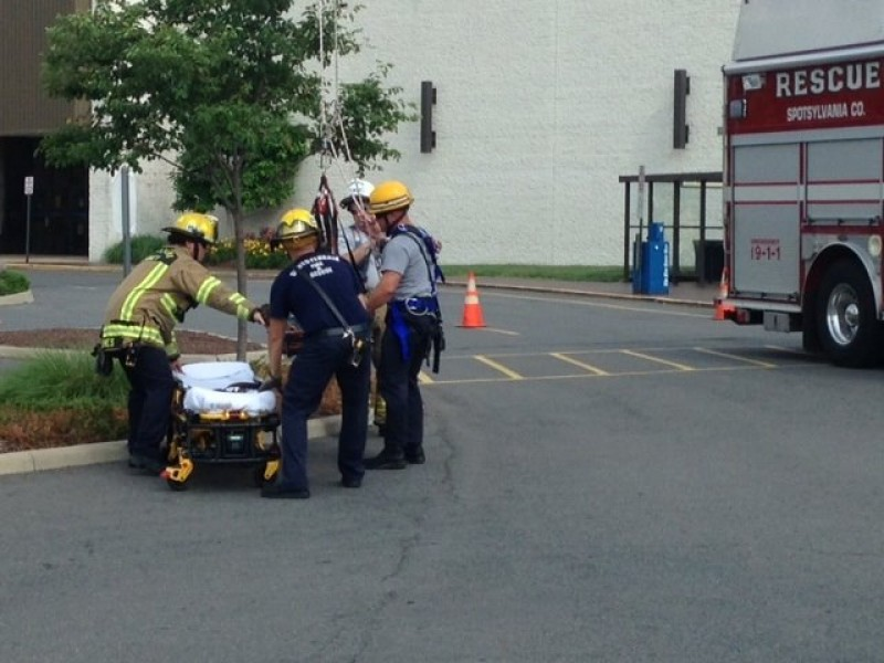 Rescue From Roof Of Towne Center During Medical Emergency