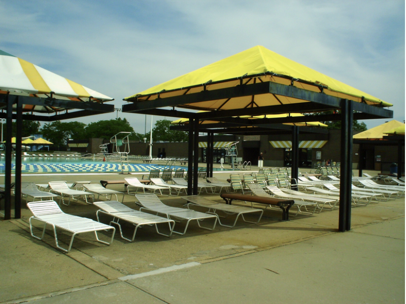 County puts new chairs at north woodmere park pool five for Garden city pool jobs