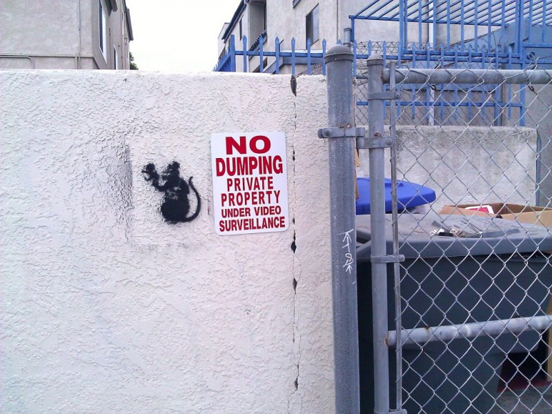 Banksy In Imperial Beach World Famous Graffiti Artist