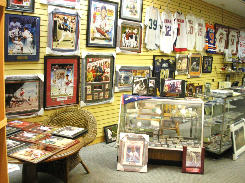 collectables store sports memorabilia store owner plays his cards well