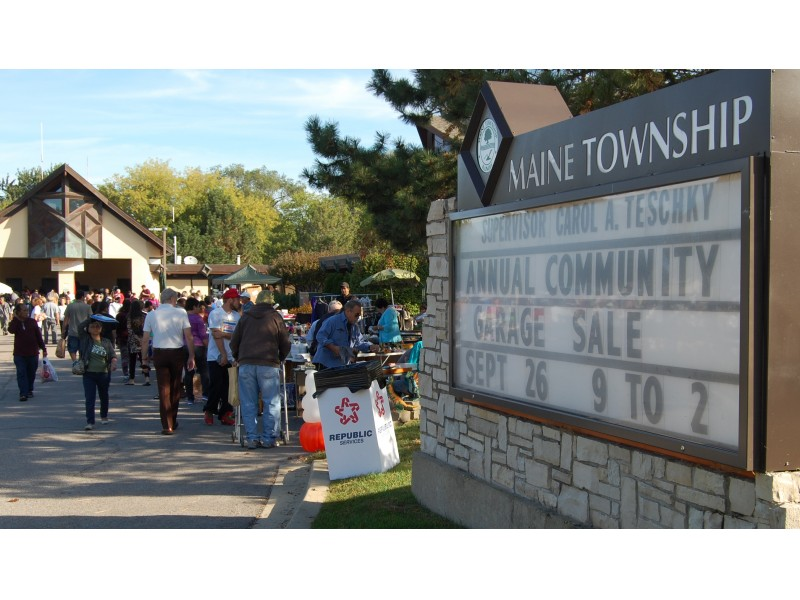 Maine Township S Community Garage Sale Hugely Successful