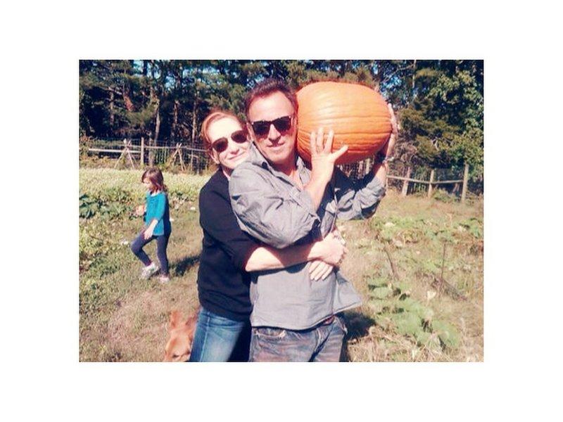 Bruce Springsteen The Boss Of The Pumpkin Patch
