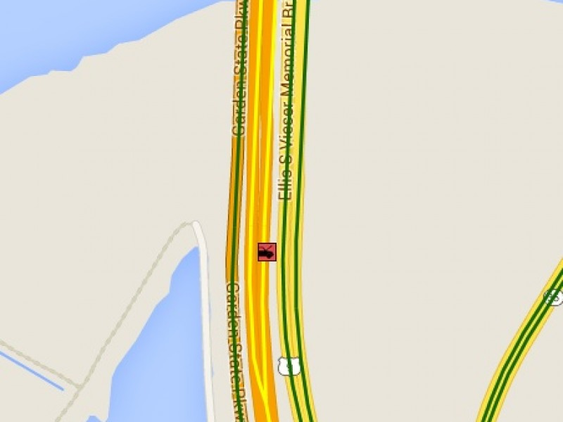 Overturned vehicle car crash off garden state parkway in - Car accident garden state parkway ...