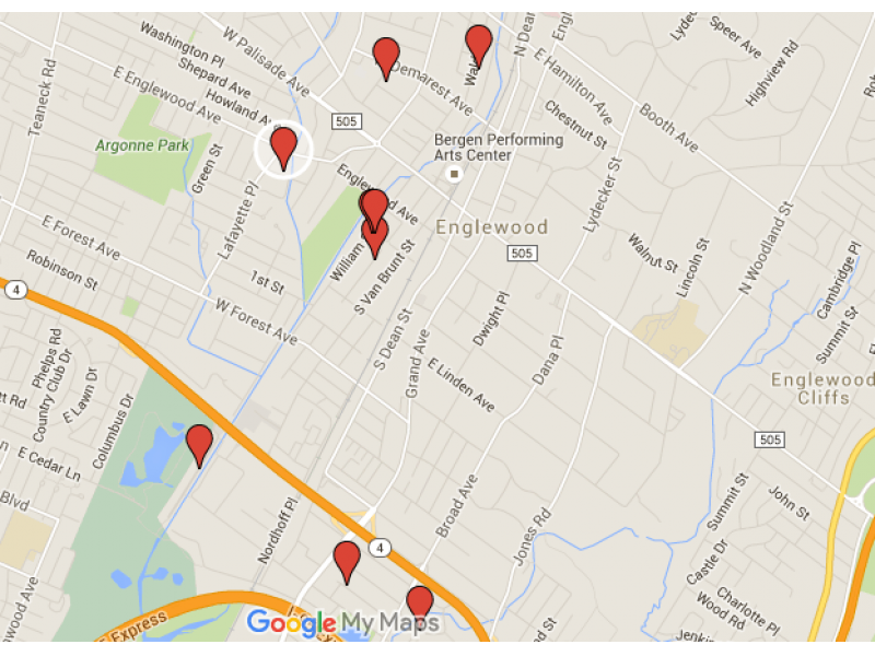 englewood sex offender map homes to watch at halloween englewood nj patch. Black Bedroom Furniture Sets. Home Design Ideas