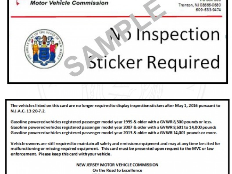 New Jersey Ending Emissions Testing For Older Cars Patch