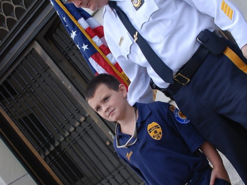 Paramus youngsters named 39 police chief for a day for Alexander s mural paramus