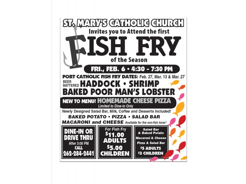 St mary 39 s fish fry port washington wi patch for Fish fry brookfield wi
