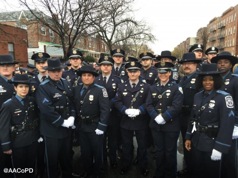 Police From Aa County Attend Ambushed Nypd Officer S