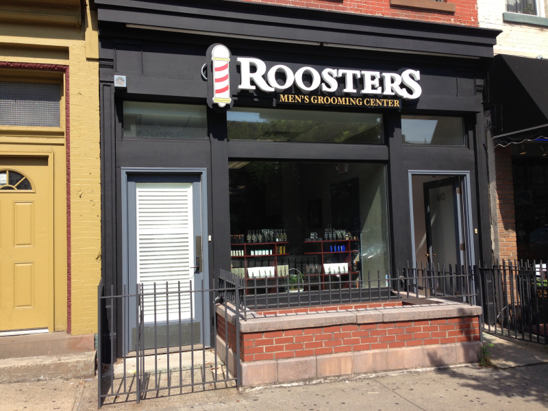 ... barbershop touch with modern style offerings and swank decor, opened
