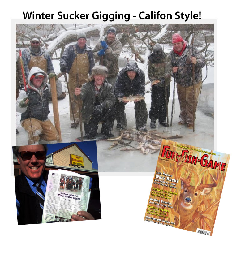 """Winter Sucker Gigging in Califon"" in Fur-Fish-Game Magazine"