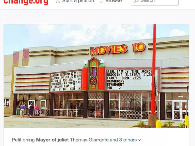online petition launched to save movies 10 joliet il patch