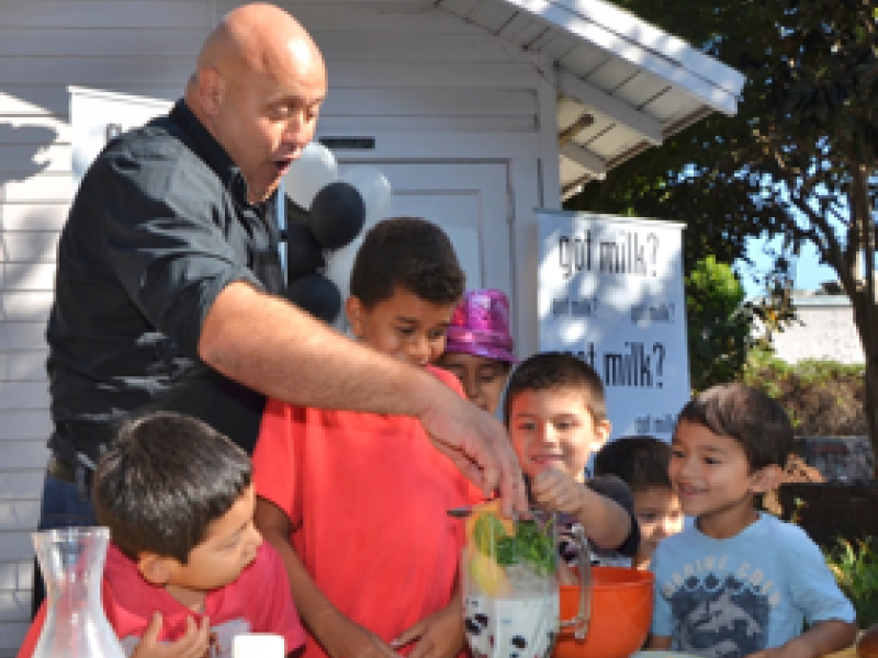 The Venice High School Learning Garden came alive Wednesday with a fun ...