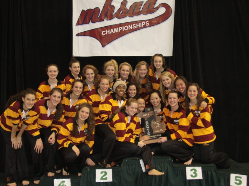 Marian Places Third Overall In State Swimming Finals Patch
