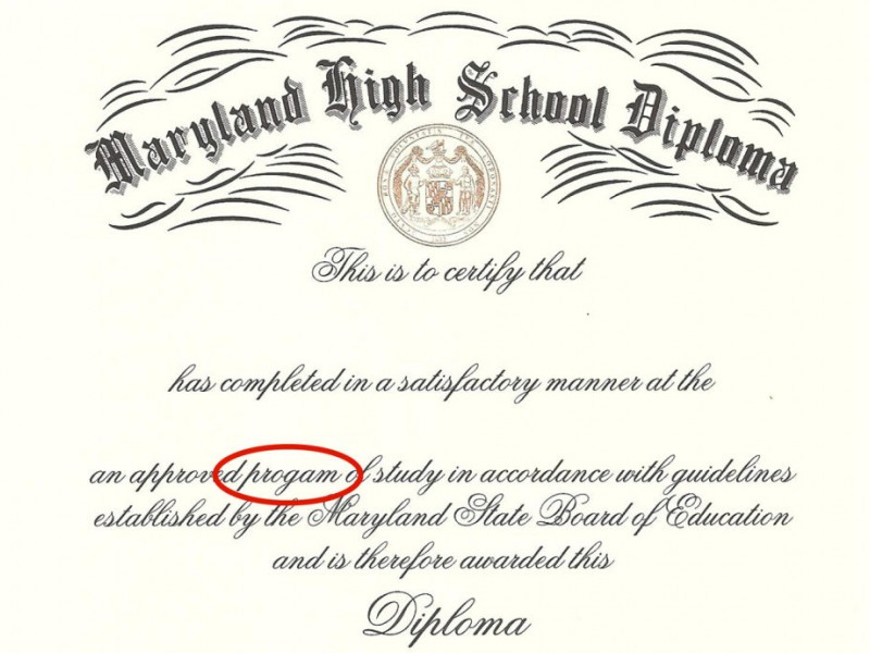 County High School Diplomas Include Misspelling Bowie