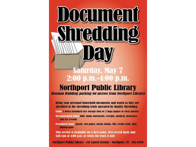 at the library document shredding day patch With personal document shredding atlanta